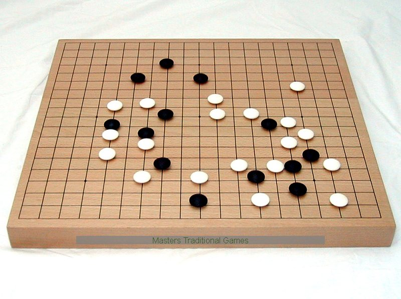 Exceptional Wooden Go Board   36mm
