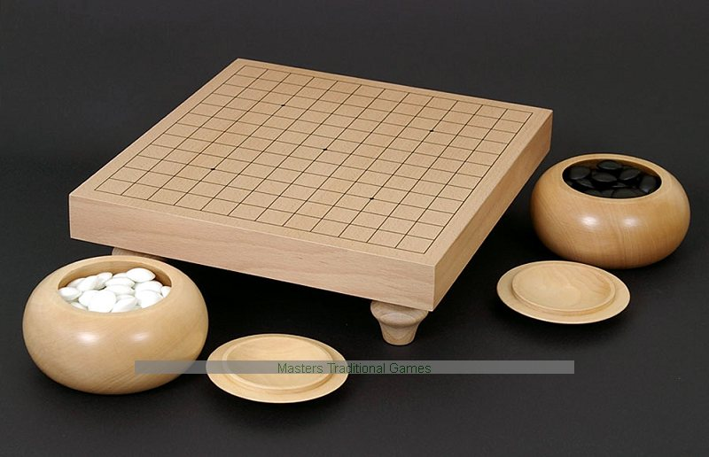 Wooden Go Table Set 40 X 40 Go Ban With Bowls And Stones Unique Game With Stones And Wooden Board