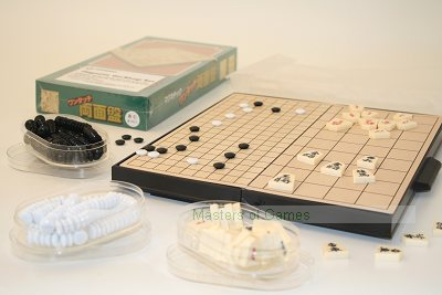 Combined Magnetic Travel Go and Shogi set