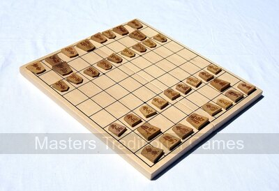 Shogi (Japanese Chess) set with folding board