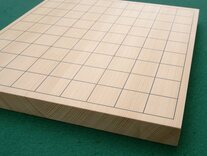 Shin Kaya Table Shogi Board with Wooden Shogi Pieces
