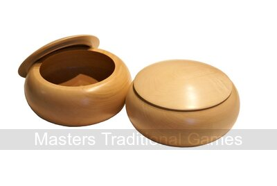 Wooden Go Bowls - Pair, Linden Wood, Natural Finish