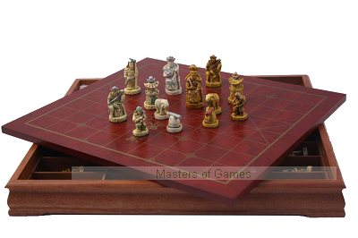 Xiang Qi Chinese Chess set with resin pieces
