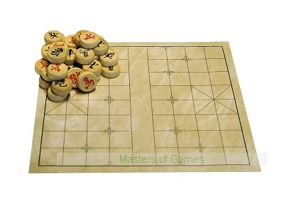 Xiangqi (Chinese Chess) Set - Leatherette Board & Wood Pieces