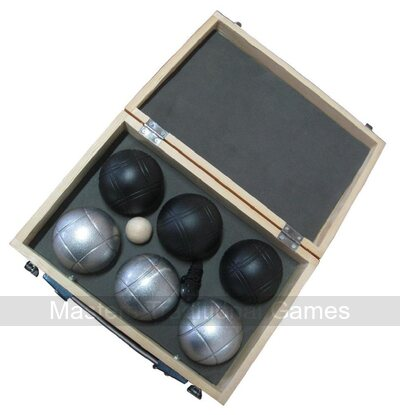 Petanque set - 6 boules with wooden case