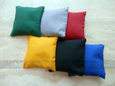 Set of 8 colour Cornbags for cornboard / cornhole