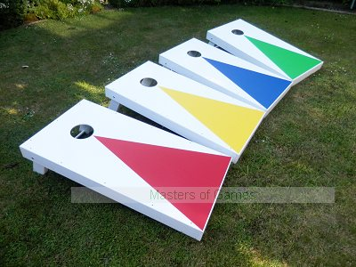 Cornhole - Full Euro Plus Set (2 boards, 8 bags, scoreboard)