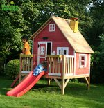 Crooked Penthouse Wooden Playhouse