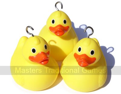 10 Weighted Race Ducks - for duck races & hook a duck games (with hooks)