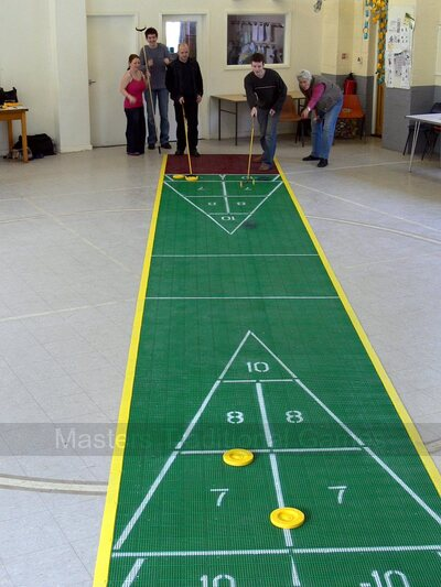 30 foot Outdoor Shuffleboard Poly Court package