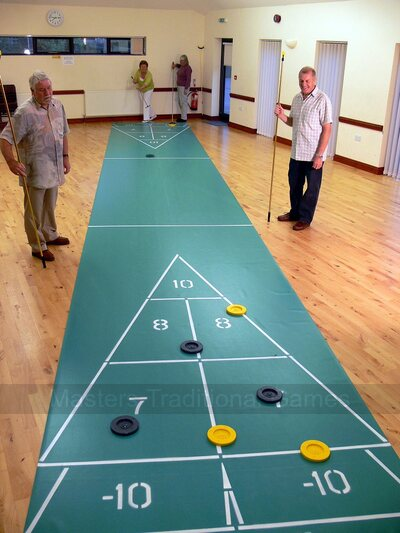 40 foot Indoor Roll-out Shuffleboard Court package