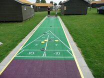 40 foot Outdoor Shuffleboard Poly Court package