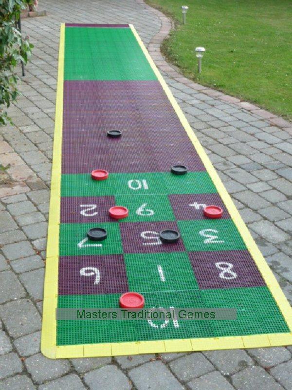 how to make a shuffleboard court