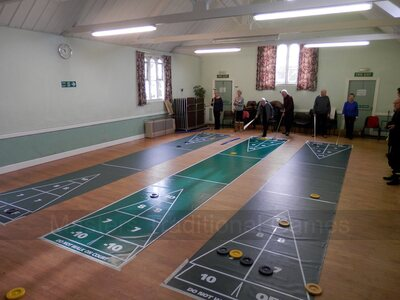 27 foot Indoor Roll-out Shuffleboard Court package