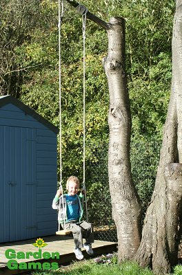 Wooden Tall Tree Swing - 6 metre ropes