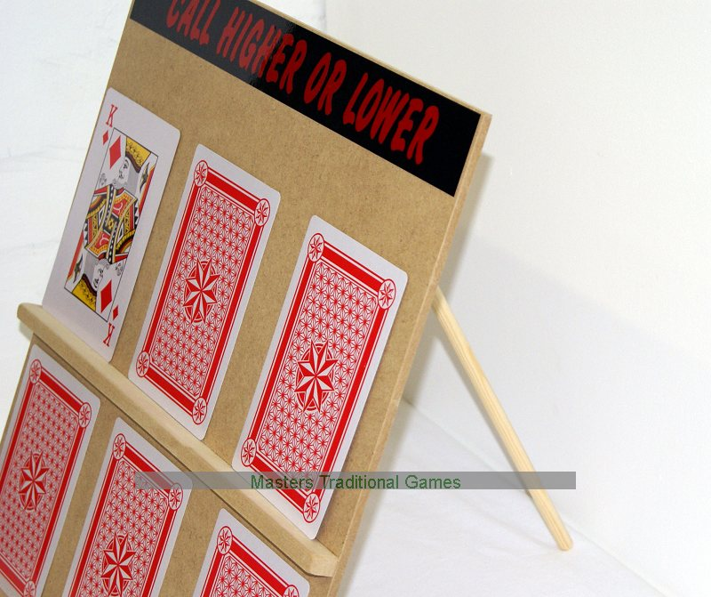 Higher or Lower - Extra Large Play Your Cards Right Game