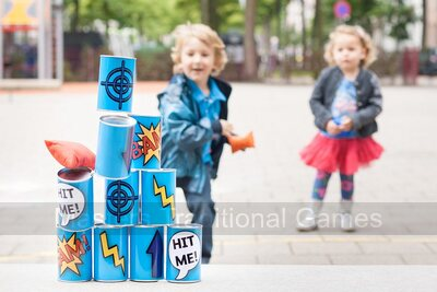 Tin Throwing Game - Blue