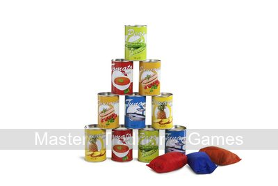 Tin Throwing Game - Food Theme