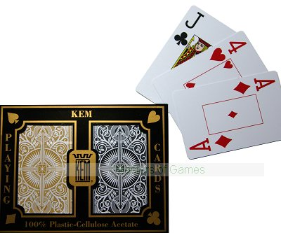 Kem Playing Cards (Std. width, Std. index, Arrow - black/gold decks)
