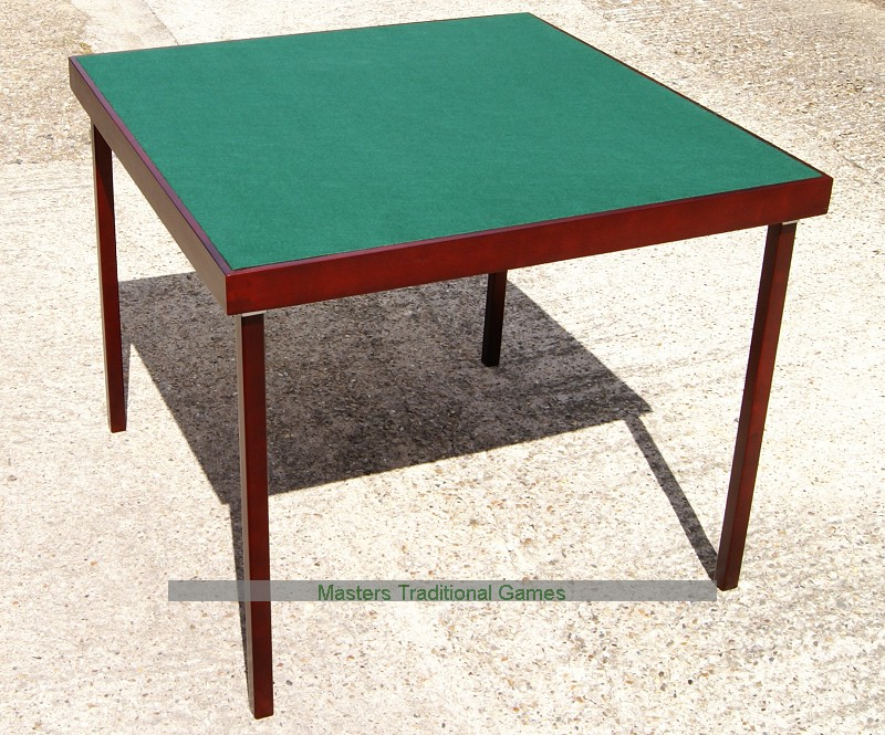 Large folding card table bridge table for Table bridge