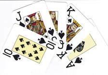 2 x Packs of NTP Long Life 100% PVC Blackjack Playing Cards