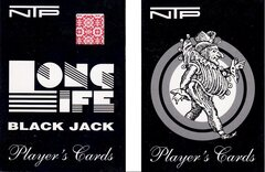 NTP Long Life 100% PVC Blackjack Playing Cards