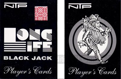 2 x Packs of NTP Long Life 100% PVC Blackjack Playing Cards (wide, Jumbo index)