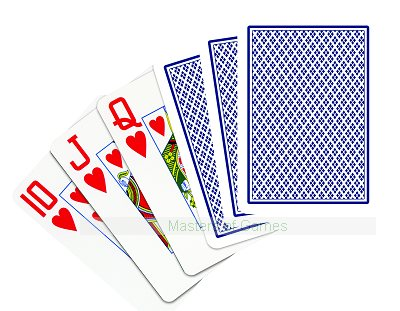 2 decks of COPAG 100% plastic poker cards (wide, jumbo index, 1 blue, 1 red)