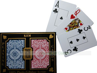 Kem Playing Cards (Std. width, Std. index, Arrow - red/blue)