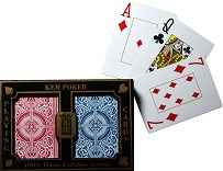 KEM Poker Playing Cards - Wide, Jumbo Index - Red & Blue Arrow