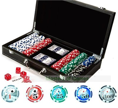 Poker Set with 300 x 11.5g clay chips and vinyl case