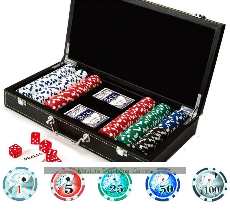 Excalibur 300 casino-quality poker set
