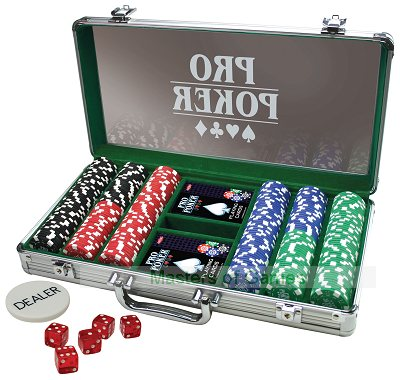 Home Poker Bundle - 300 Chips - 8 Players (Octagonal Table)