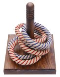 Spare set of 6 Rope Quoits with steel core, 3 red, 3 blue