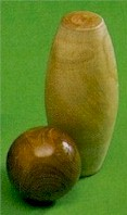 Gloucestershire skittle pin with Lignum Vitae skittle ball