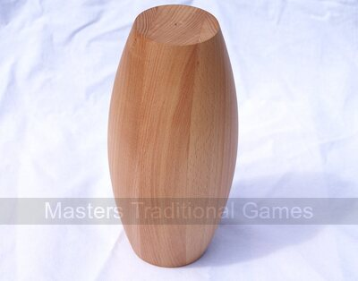 Set of 9 x 5 inch laminated beech Gloucester style Skittle Pins
