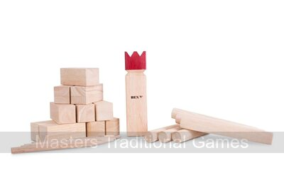 Bex Kubb Original - Rubberwood (Red topped King)