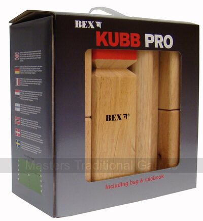 Bex Kubb Pro Red King - Rubberwood