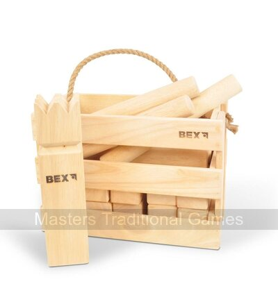 Bex Kubb Original in Wooden Box - Rubberwood