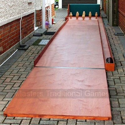 Club Portable Skittle Alley 34ft x 4 to 5 foot with return gulley