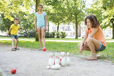 Wooden Bowling Skittles Game