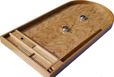 Hand-made Oak Bagatelle with bells and plunger