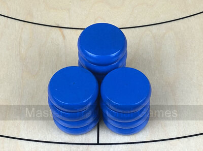 Tracey Blue Crokinole Buttons (set of 13)