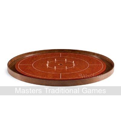 Masters Crokinole Tournament Board - Cherry & Walnut (incl hanging kit)