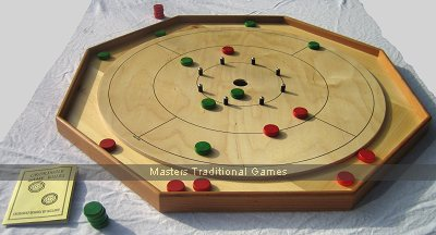 Masters Traditional style Crokinole Board (Octagonal with 24 disks)