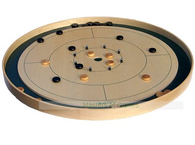 Masters Crokinole Board (World Championship standard - round style with 24 disks)