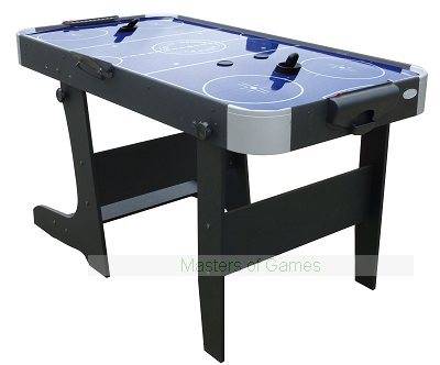 Gamesson Folding L-Foot Air Hockey Table (Blue)