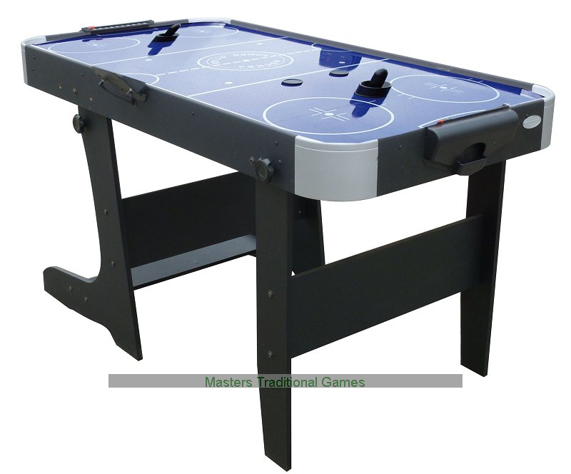 Gamesson L Foot Folding Blue Air Hockey Table