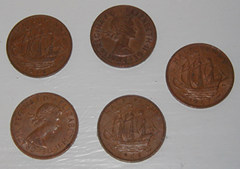 Old English ha'pennies