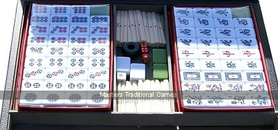 Mah Jong set - acrylic tiles in leatherette case